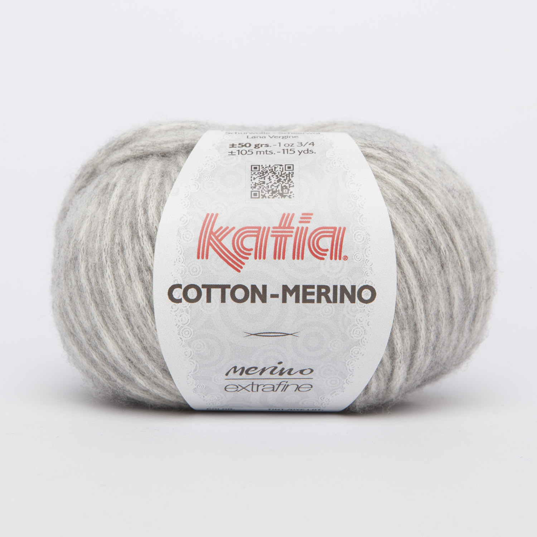 Cotton-Merino lys grå