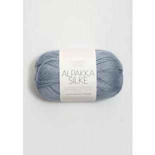 Alpakka silke støvet blå