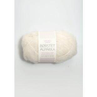 Børstet Alpakka Hvit