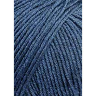 Merino 120 Mørk Jeansblå Meleret