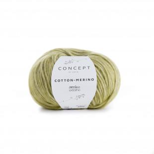 Cotton-Merino lys grøn