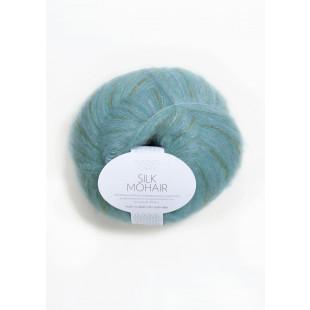 Sandnes Silk blå print