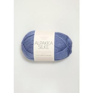 Alpakka silke lavendel