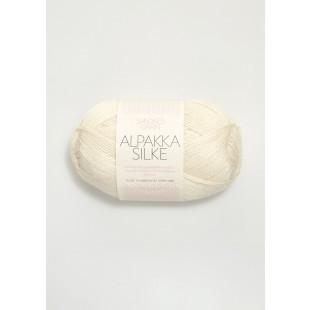 Alpakka silke hvid