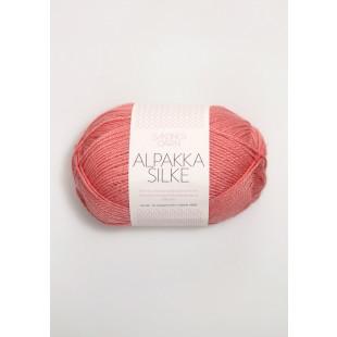 Alpakka silke støvet koral