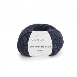 Cotton-Merino Night Blue black