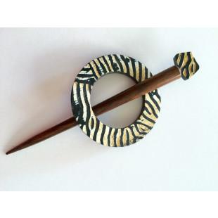 Sjal pin zebra