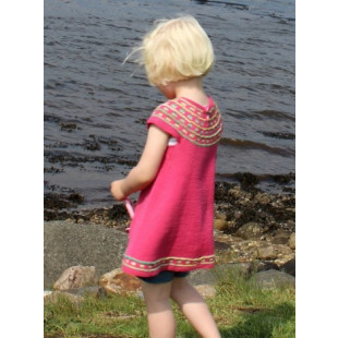 Lillepigens farvelade-kjole