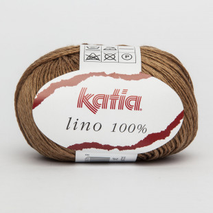 Lino 100 % brun
