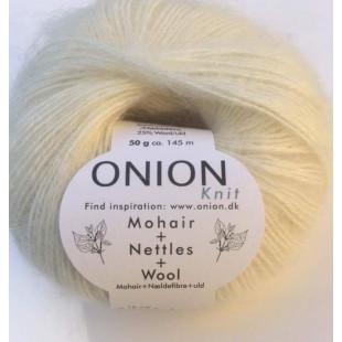 Mohair+Nettle+wool hvid