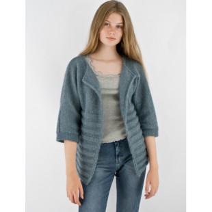 Kimono jakke i Mohair+Nettle+Wool