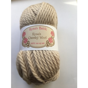 Rosa's chynky wool beige