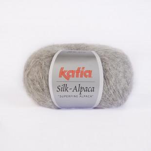 Silk-Alpaca lys grå