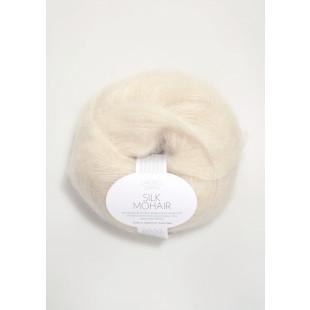 Sandnes Silk Mohair hvid