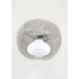 Sandnes Silk Mohair lys grå